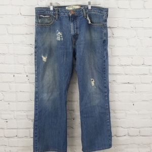 Levi's 527 Distressed Jeans